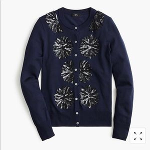 Madewell sequin flower Jackie cardigan sweater